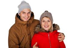Одежда зимы пар нося стоковое изображение rf