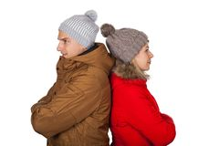 Одежда зимы пар нося стоковое фото