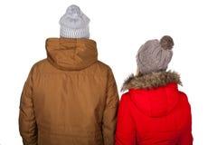 Одежда зимы пар нося стоковые изображения