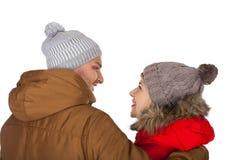 Одежда зимы пар нося стоковое фото rf