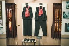 Одежда, форма Khmer Rouge совершила геноцид в Камбодже 70 лет XX века стоковое изображение