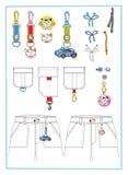 одежды вспомогательного оборудования Стоковое фото RF