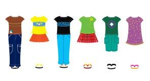 одежды детей иллюстрация вектора