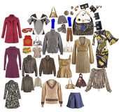 Одежды способа собрания изолированные на белизне Стоковые Изображения