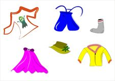 одежды иллюстрация штока
