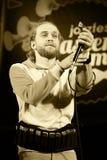 ОДЕССА, УКРАИНА - 5-ОЕ ИЮНЯ: джазовый музыкант Борис Plotnikov (Россия) Стоковые Изображения