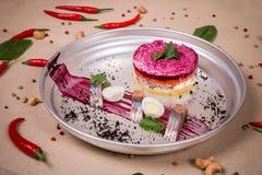 Одетый салат сельдей Стоковое фото RF