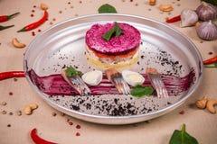 Одетый салат сельдей Стоковая Фотография RF