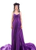 одетьйте венок нимфы девушки цветков silk Стоковое Фото
