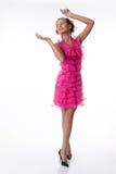 одетьйте эмоциональных розовых детенышей женщины Стоковое Изображение