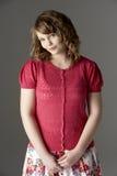 одетьнная модно студия портрета gir подростковая стоковое изображение rf