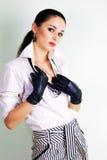 одетьнная шикарная обольстительная женщина Стоковая Фотография RF