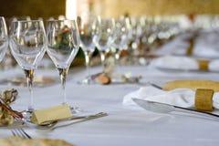 одетьнное добро венчания таблицы Стоковое Изображение RF