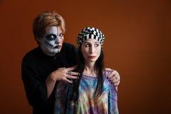 одетьнные женщины halloween Стоковое фото RF
