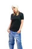одетьнный хмель вальмы девушки Стоковое Изображение RF