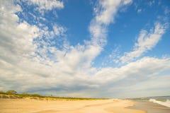 Одинокий пляж Балтийского моря Стоковое Фото