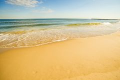 Одинокий пляж Балтийского моря Стоковое фото RF