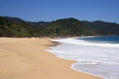 одинокое пляжа красивейшее Стоковые Изображения RF