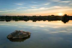 Одиночество на озере стоковые изображения rf