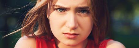 одиночество Обиденная и унылая девушка Стоковые Изображения RF