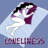 Одиночество с женщиной Стоковое Фото