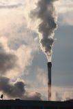 одиночный стог дыма Стоковое Изображение RF