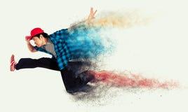 Один азиатский ход человека стоковая фотография rf