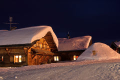 Один вечер в зиме стоковое изображение rf