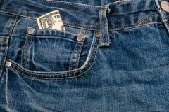 Один доллар счета в карманн Стоковая Фотография RF