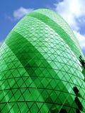 один зеленый цвет пули здания Стоковые Фотографии RF