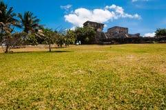 Один из висков от майяских руин в Tulum стоковое фото rf