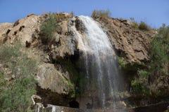 Один из горячих водопадов в основе Эз-Зарка вадей Стоковое Изображение RF