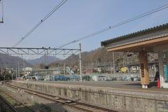 Один из железнодорожного пути Fujikyu на Otsuki Стоковое Изображение