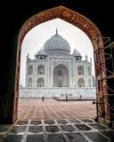 Один из 7 интересов мира - Тадж-Махал, Агра, Индия Стоковое Изображение