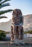 Один из колоссов Memnon, долина королей, Луксор Стоковое фото RF