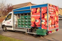 один из нового флота фургонов доставки Tesco в Beverley стоковое фото