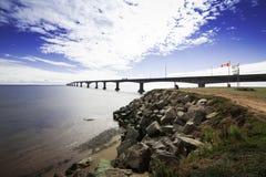 Один из самых длинных мостов в мире Стоковая Фотография