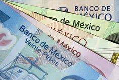 Один из счетов каждого мексиканского песо стоковые изображения rf