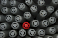 один красный цвет пер стоковые изображения rf