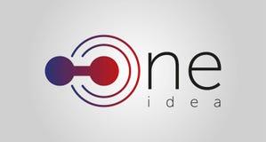 Один логотип идеи, один значок, одна линия иллюстрация вектора изолированная на белой предпосылке бесплатная иллюстрация