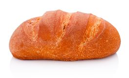 Один ломоть хлеба изолированный на белой предпосылке стоковое изображение rf