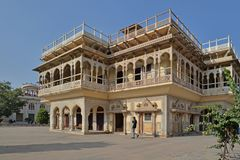 Один павильон, дворец города, Джайпур, Раджастхан стоковое изображение