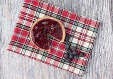 Один пирог плодоовощ с голубиками Стоковые Изображения RF