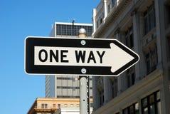 один путь дорожного знака Стоковое Изображение