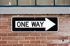 один путь знака стоковые изображения rf