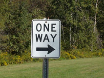 один путь знака Стоковые Фото