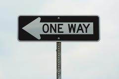 один путь знака Стоковое Изображение