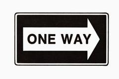 один путь знака Стоковое Фото