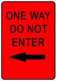 один путь знака Стоковая Фотография RF