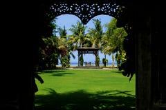 Один романтичный ресторан в острове Бали стоковые изображения rf